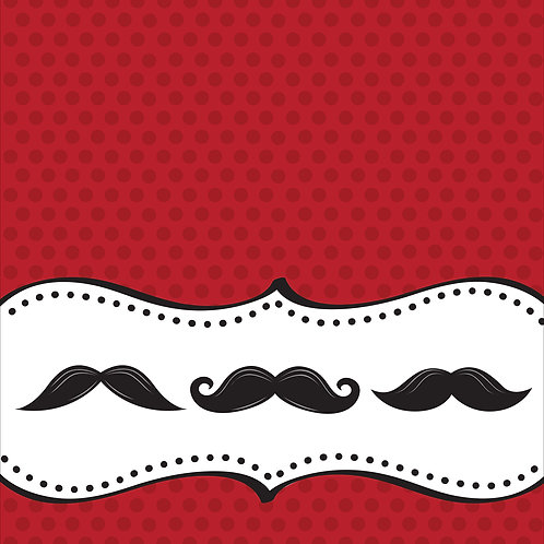 """Mustache Madness Plastic Tablecover 54""""x108"""""""