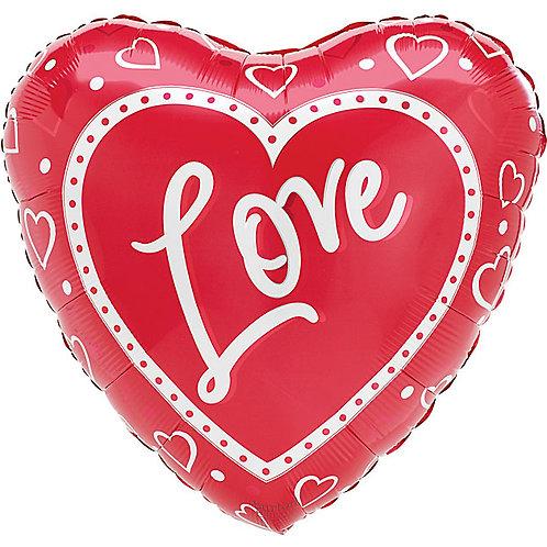 "Balloon Foil 18"" Heart To Heart"