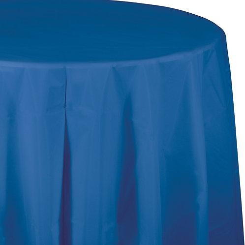"""Blue True Tablecover 82"""" Octy  Rnd"""