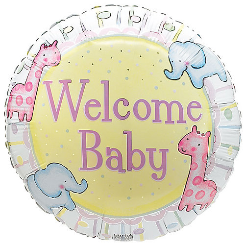 """Balloon Foil 18"""" Welcome Baby"""