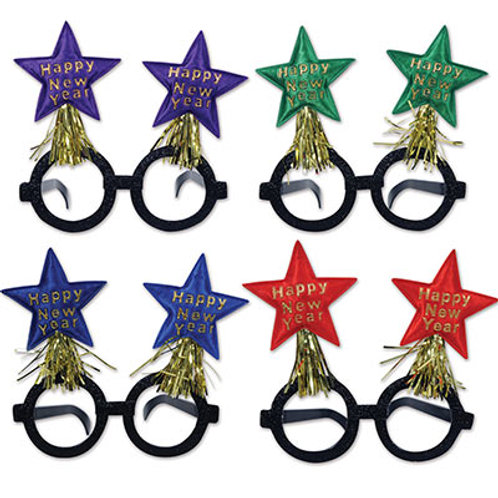 Assorted Happy New Year Star Glasses