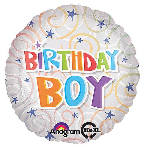 """Balloon 17"""" Birthday Boy"""