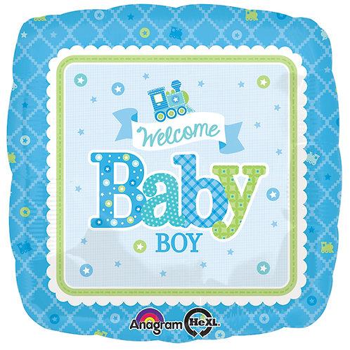 "Balloon Foil 17"" Baby Boy Train"