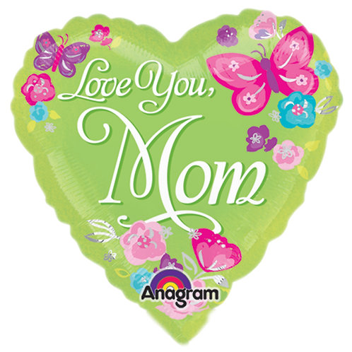 """Balloon Foil 9"""" Happy Mothers Day Heart"""