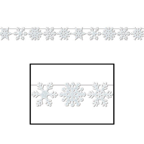 Glitter Snowflake Streamer