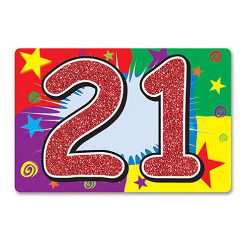 21 Glitter Sign