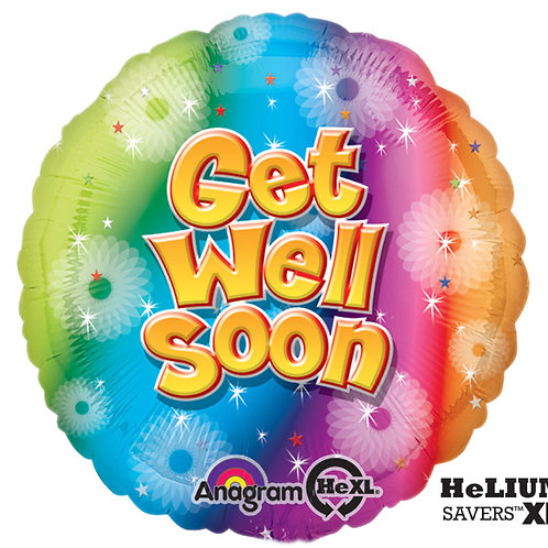 "Balloon Foil 17"" Get Well Soon"