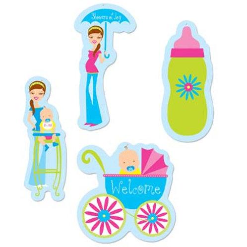 Showers of Joy Cutouts