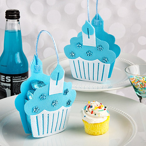 Favor Blue Cupcake Bag