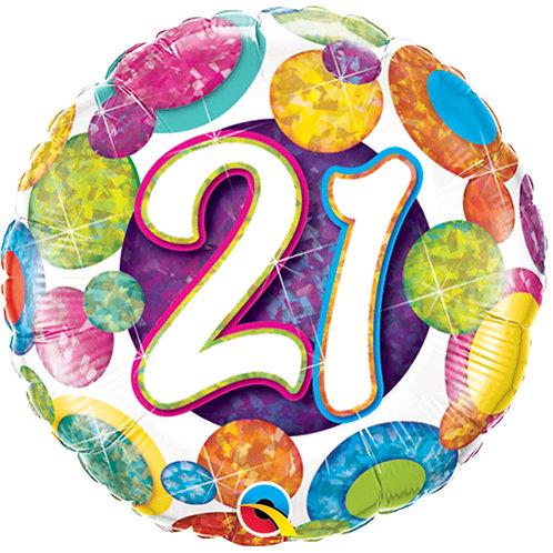 """Balloon 18"""" 21st Birthday"""