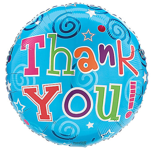 "Balloon Foil 18"" Thank You"