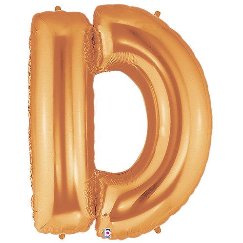 "Balloon Foil 40"" Letter ""D"" Gold"