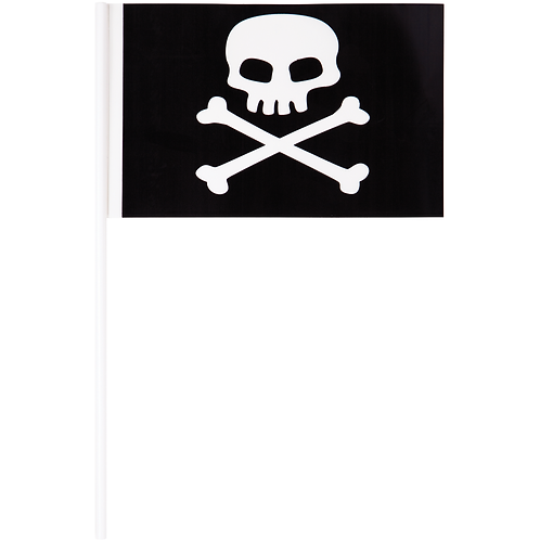 Pirate's Map Plastic Flags