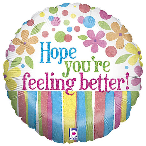 """Balloon Foil 18"""" Feel Better"""
