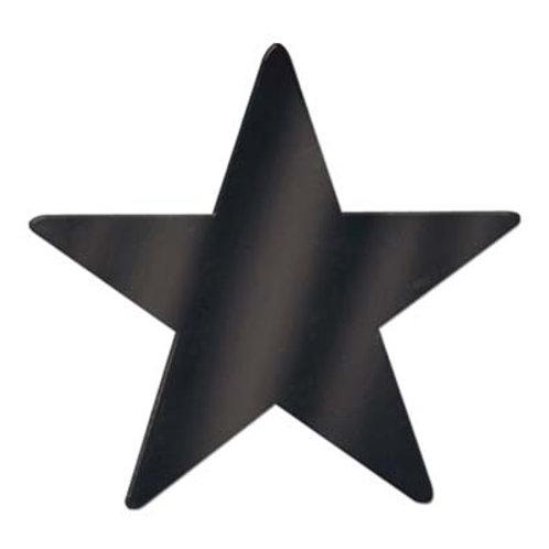 "Black Foil Star 15"""