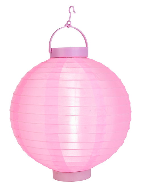 "Lantern Nylon 14"" Led Round Light Pink"