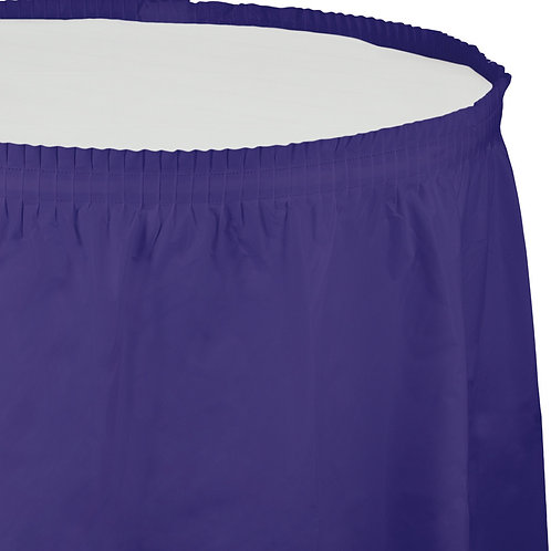 Purple Tableskirt  14'X29""