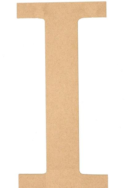 """Wooden 5"""" Letter 'I'"""