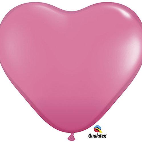 "Balloon Latex 6"" Heart Rose 100C"