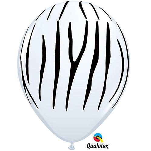"""Balloon Latex 11"""" Zebra White"""
