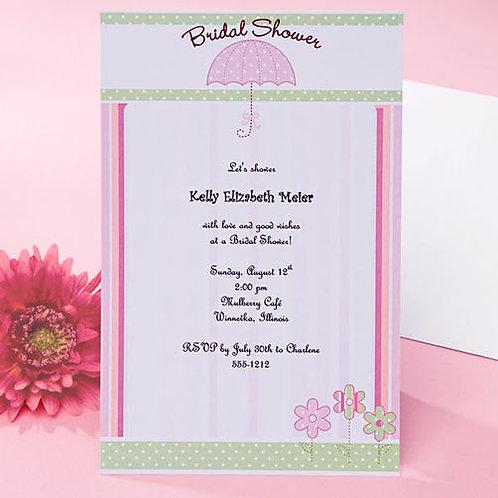 Invitation Pink Umbrella 12Ct