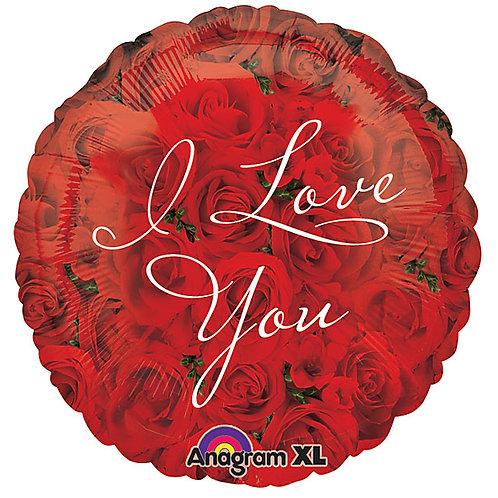 "Balloon Foil 18"" I Love You Roses"