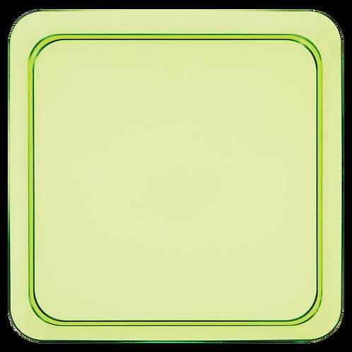 "Trendware Plastic Square Plate 5"" (8Ct) Green"