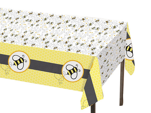 "Buzz Party Plastic Tablecover 84""x105"""