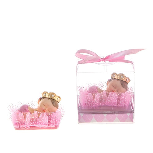 Favor Baby With Crown Pink