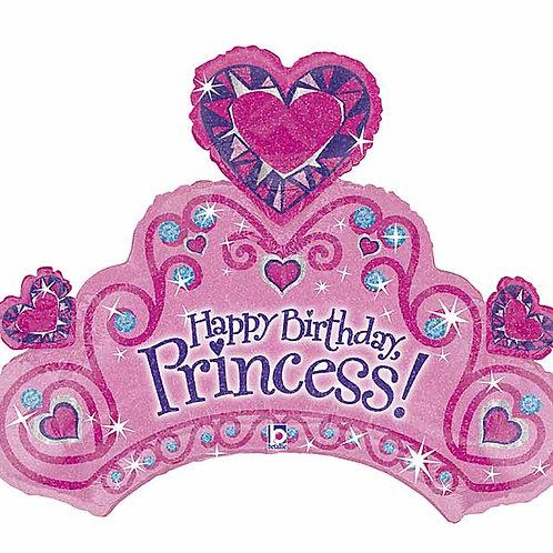 "Balloon Foil 34"" Happy Birthday Princess"