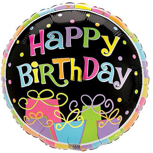 "Balloon Foil 9"" Happy Birthday Bonanza"