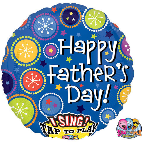 """Balloon Foil 29"""" Singing Balloon Father's Day"""