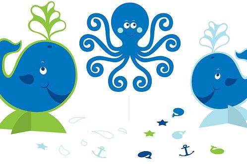 Ocean Preppy 1st Birthday Centerpiece