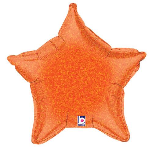 "Balloon Foil 21"" Star Orange"