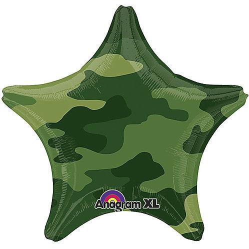 """Balloon Foil 18"""" Camo Star"""