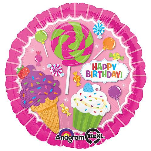 "Balloon Foil 17"" Sweet Shop"