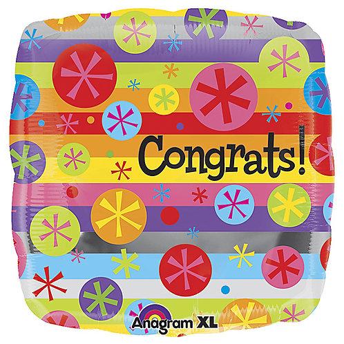 """Balloon Foil 18"""" Congrats"""