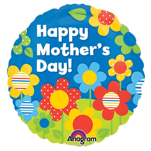 """Balloon 9"""" Happy Mother's Day Daisie Dots"""