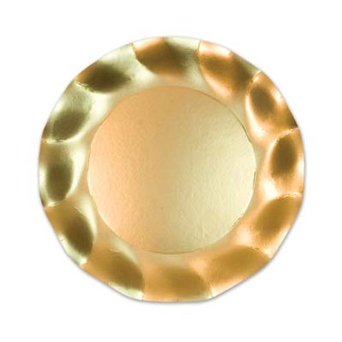 """Gold Satin Plate 10"""" 10CT"""
