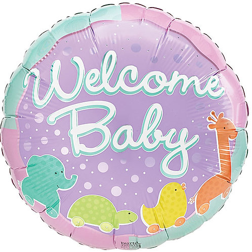 "Balloon 9"" Animal Welcome Baby"