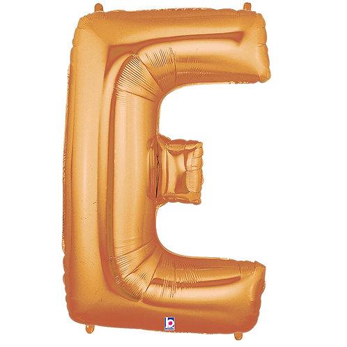 """Balloon Foil 40"""" Letter """"E"""" Gold"""