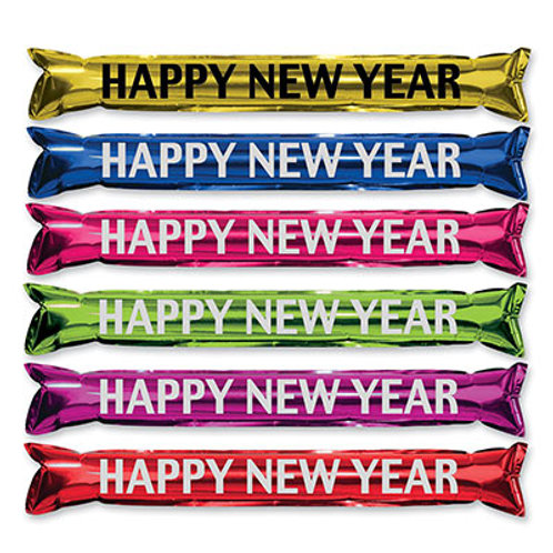 Assorted Happy New Year Inflatable Party Stick