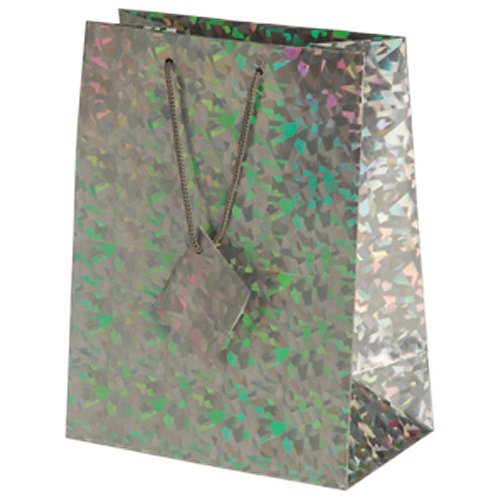 Bag Gift Large  Metallic Silver