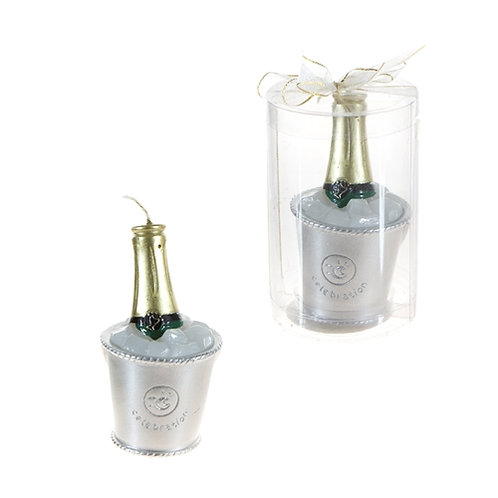 Candle Champagne Bottle Ice