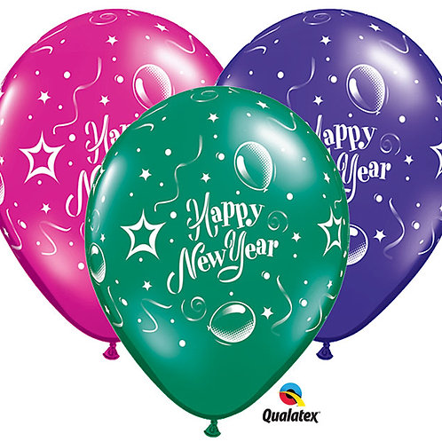 "Balloon 11"" Happy New Year Party"