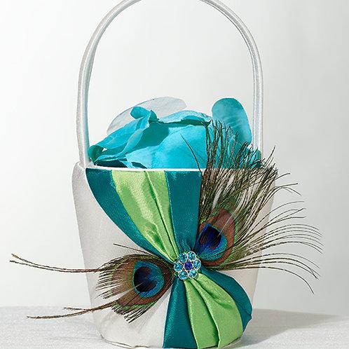 Wedding Basket Peacock