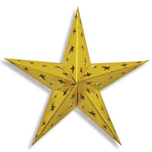 "Gold 3D Foil Star 24"""