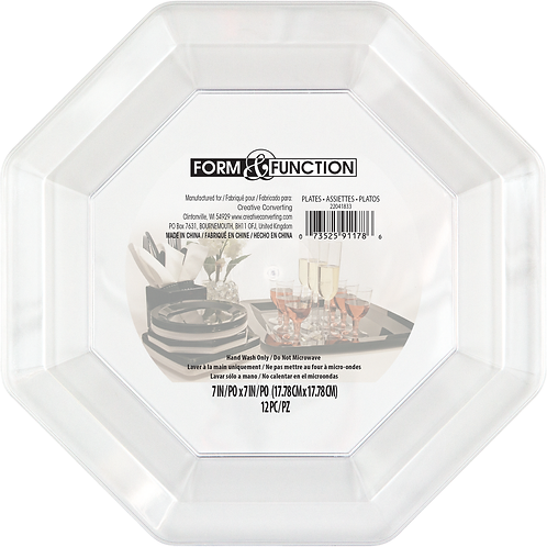"""Clear Octagonal Plate 7"""""""