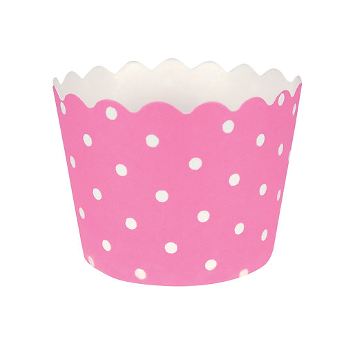 Baking Cups Polka Dot Bake Cup - Candy Pink (12 ct)