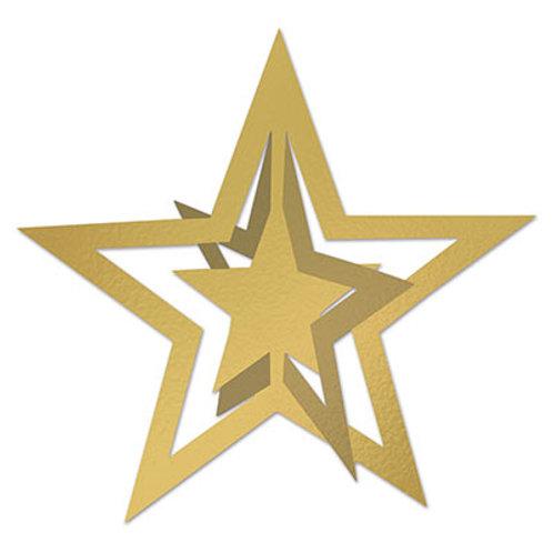 3D Gold Cutout Star